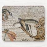 Pato y pájaro, mosaico del Nilo, casa del fauno Mousepads