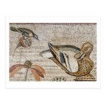 Pato y pájaro, mosaico del Nilo, casa del fauno Tarjetas Postales