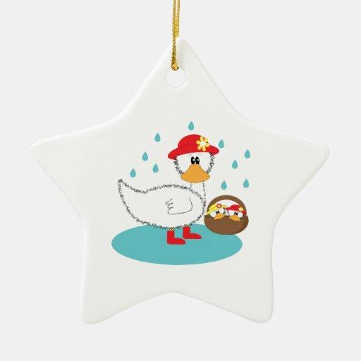 Pato y su ejemplo de los anadones adorno de navidad
