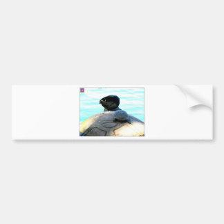 Pato y tortuga etiqueta de parachoque