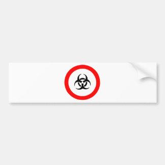 patógeno del bloodborne etiqueta de parachoque