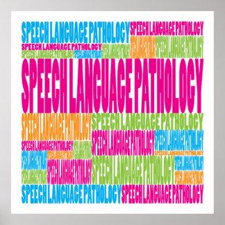 Patología colorida de la lengua del discurso poster