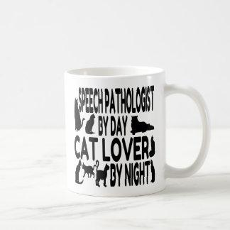 Patólogo de discurso del amante del gato taza