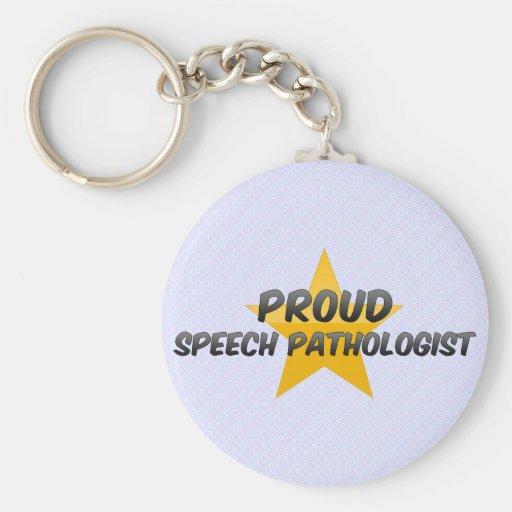Patólogo de discurso orgulloso llaveros