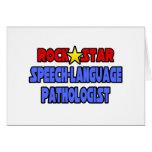 Patólogo de la Discurso-Lengua de la estrella del  Tarjetón