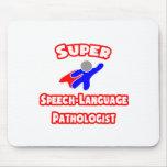 Patólogo estupendo de la Discurso-Lengua Tapetes De Ratones