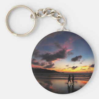 Patong Beach Collection Basic Round Button Keychain