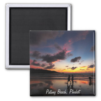 Patong Beach Collection 2 Inch Square Magnet