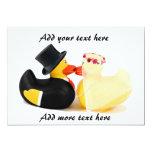 Patos 4 del boda invitación 12,7 x 17,8 cm