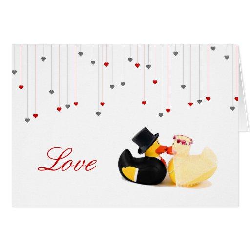 Patos 4 del boda tarjeta de felicitación