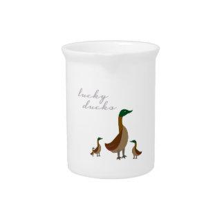 Patos afortunados jarras de beber