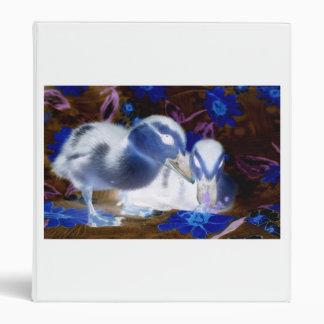 Patos azules y blancos fantasmagóricos del bebé