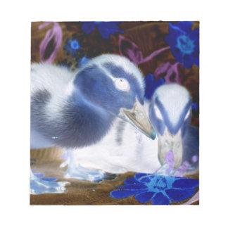 Patos azules y blancos fantasmagóricos del bebé bloc de papel