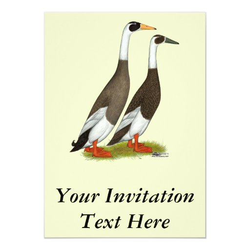 Patos:  Corredores a lápiz del esmeril Invitaciones Personalizada