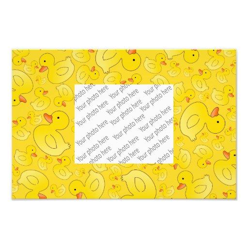 Patos de goma amarillos lindos arte fotografico