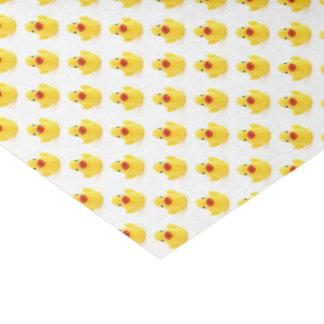 Patos de goma amarillos papel de seda pequeño