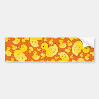 Patos de goma anaranjados lindos pegatina para auto