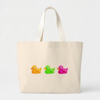 Patos de goma bolsa tela grande