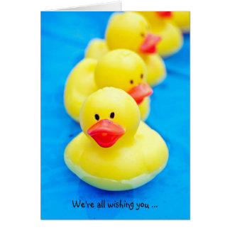 Patos de goma para la recuperación rápida tarjeta de felicitación