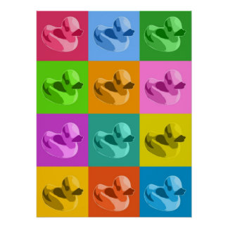 Patos de goma póster