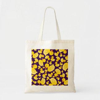 Patos de goma púrpuras lindos bolsas