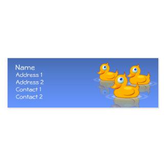 Patos de goma tarjeta de visita