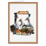 Patos de la acción de gracias - peregrinos y indio felicitacion