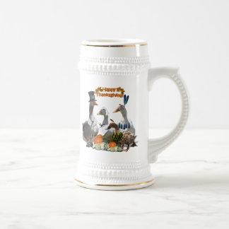 Patos de la acción de gracias - peregrinos y indio tazas de café