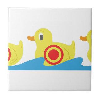 Patos de la galería de tiroteo azulejo cuadrado pequeño