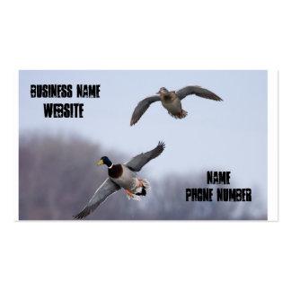 Patos de la mosca plantillas de tarjetas de visita