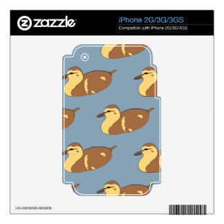 Patos de la natación calcomanías para el iPhone 2G