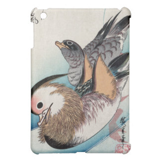 Patos de mandarín Ando Hiroshige
