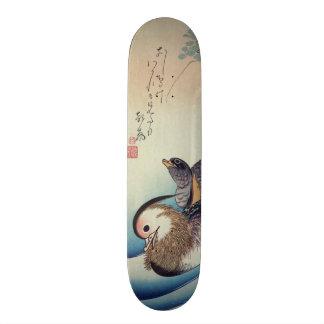 "Patos de mandarín de Oshidori de Ando Hiroshige C. Patineta 7 1/4"""