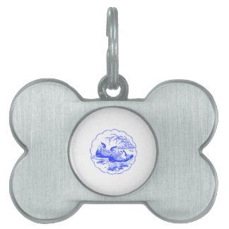 Patos de mandarín placas de mascota