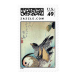 Patos de mandarín por Ando, Hiroshige Ukiyoe Sello