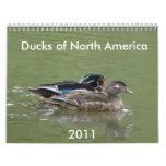 Patos de Norteamérica, 2011 Calendarios De Pared