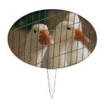 Patos de Pekin en imagen de la jaula Decoración De Tarta