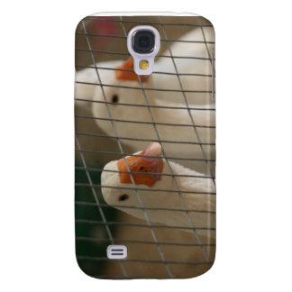 Patos de Pekin en imagen de la jaula Funda Para Galaxy S4