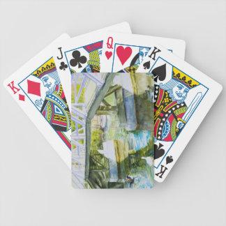 Patos debajo de un puente barajas de cartas
