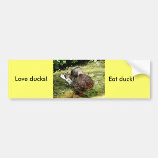 ¡Patos del amor! ¡Coma el pato! Pegatina Para Auto