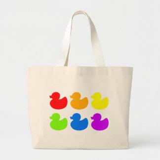 Patos del caucho del arco iris bolsa