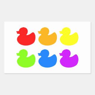 Patos del caucho del arco iris rectangular altavoces