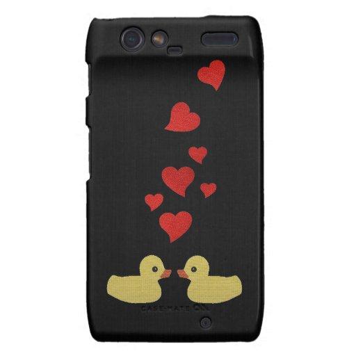 Patos en amor droid RAZR fundas