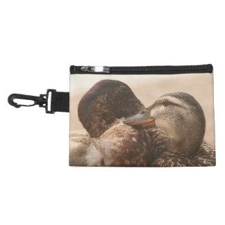 Patos en bolso de los animales de la fauna de los
