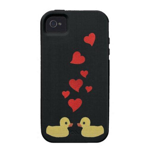Patos en caso del iPhone 4 del amor Vibe iPhone 4 Carcasas