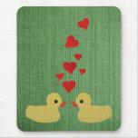 Patos en el amor Mousepad Tapetes De Raton