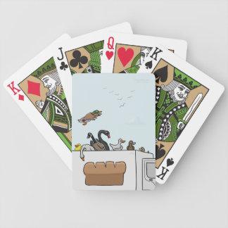 Patos en naipes de los camiones barajas de cartas