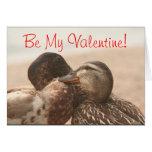 Patos en tarjeta divertida de las tarjetas del día