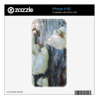 Patos en una charca calcomanías para iPhone 4