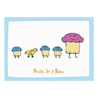 Patos en una fila - Notecards Tarjetas De Visita